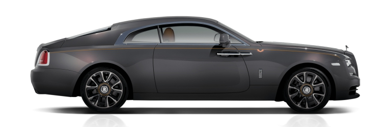 Rolls-Royce Wraith gray side view