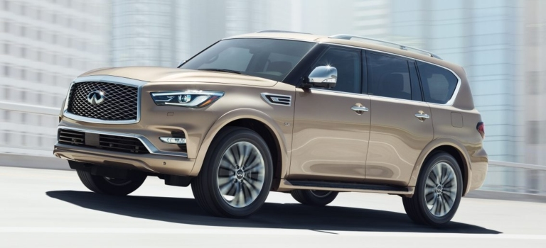 2018 INFINITI QX80 gold side view