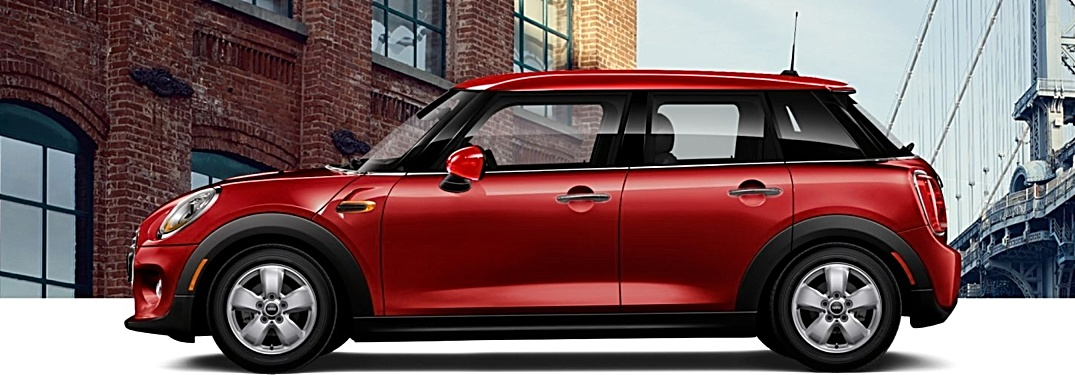 2018 MINI Hardtop 4 door red side view