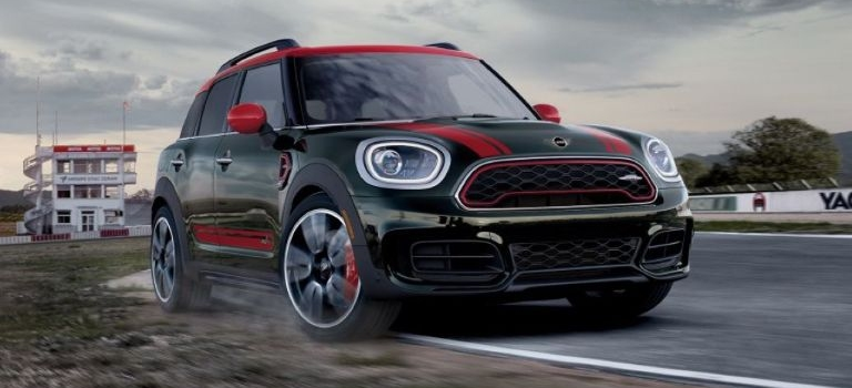 JCW MINI model green and red front view