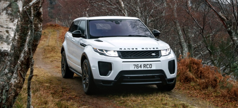 Land Rover Range Rover Evoque white front view