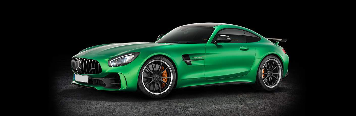 2017 Mercedes-AMG GT R green side view