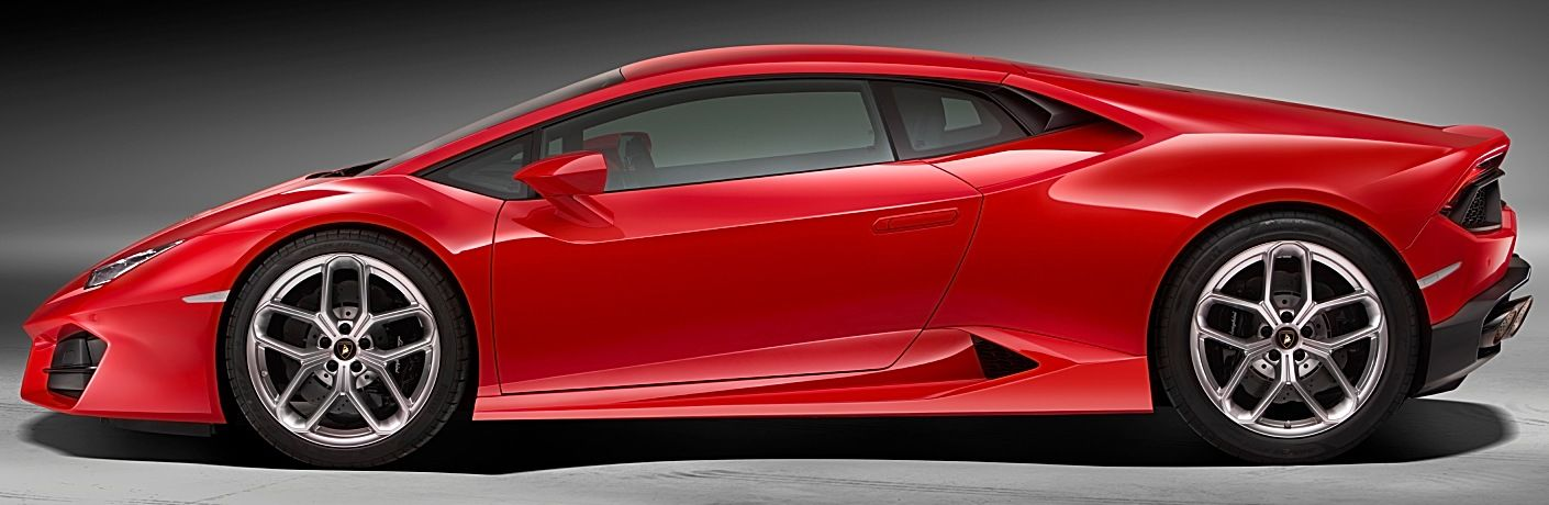 Lamborghini Huracan Coupe RWD red side view