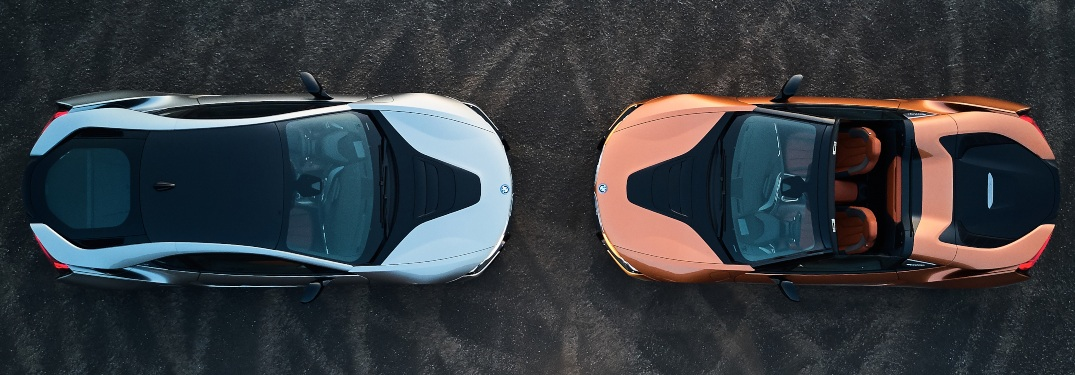 What is unique about the BMW i8?