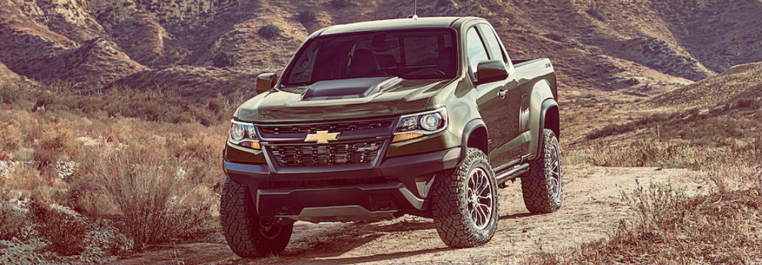 green 2018 Chevy Colorado front view
