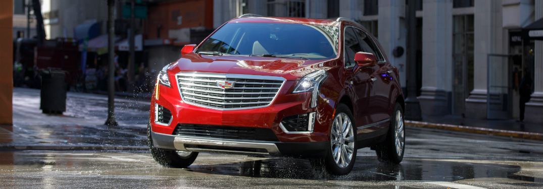 front view of red 2019 cadillac xt5