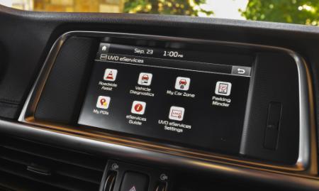 interior touch-screen of 2018 kia optima