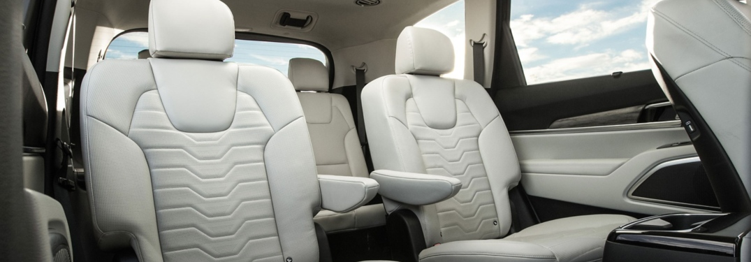 Second and third row seats in the 2020 Kia Telluride