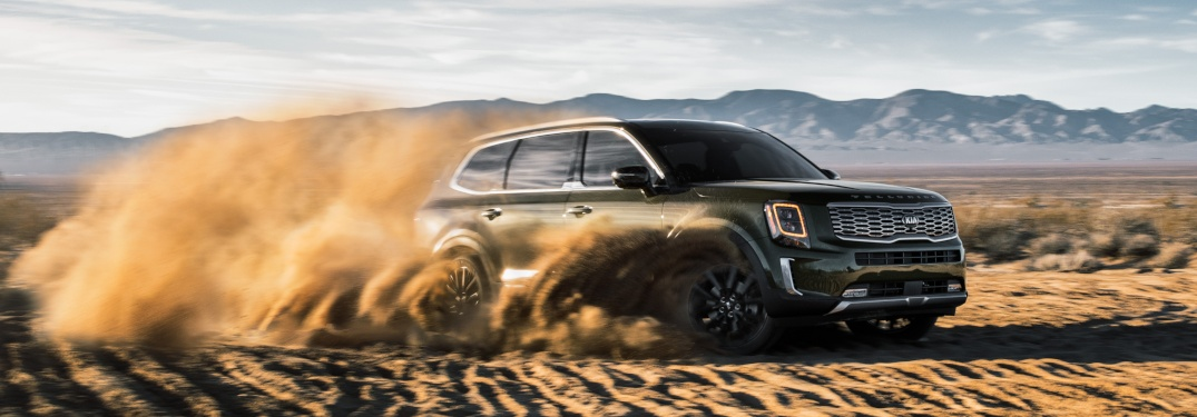 2020 Kia Telluride driving through heavy sand
