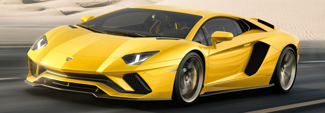 Lamborghini Aventador S Coupe yellow front view