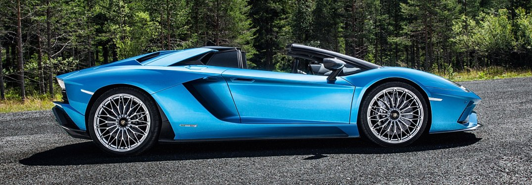 Lamborghini Aventador S Roadster blue side view