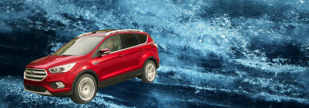 Ford Escape In Red Against Icy Background