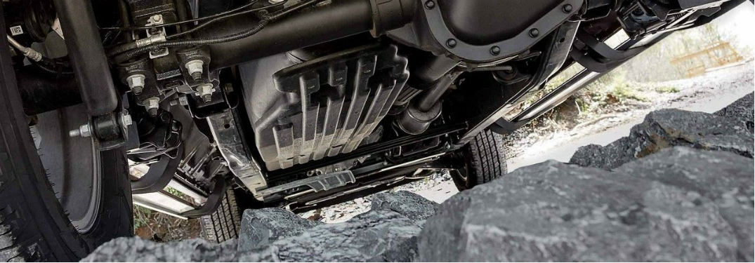 Undercarriage Of  Ford F  With Fuel Tank