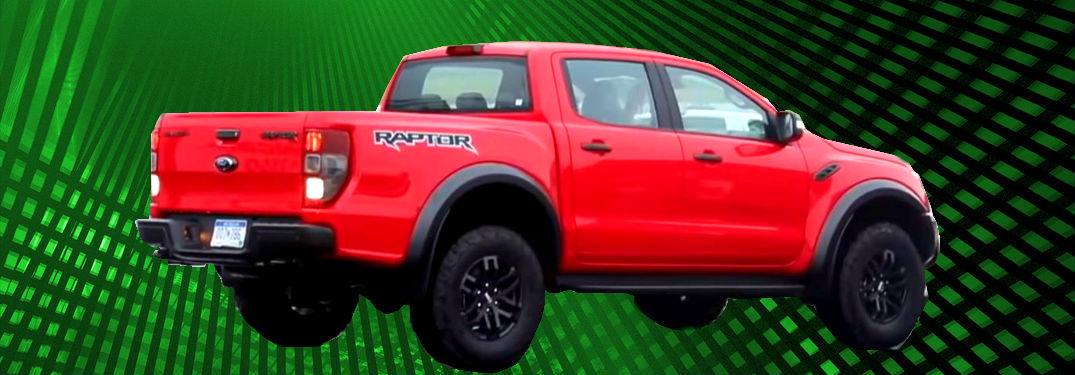 2020 ford ranger raptor on abstract background