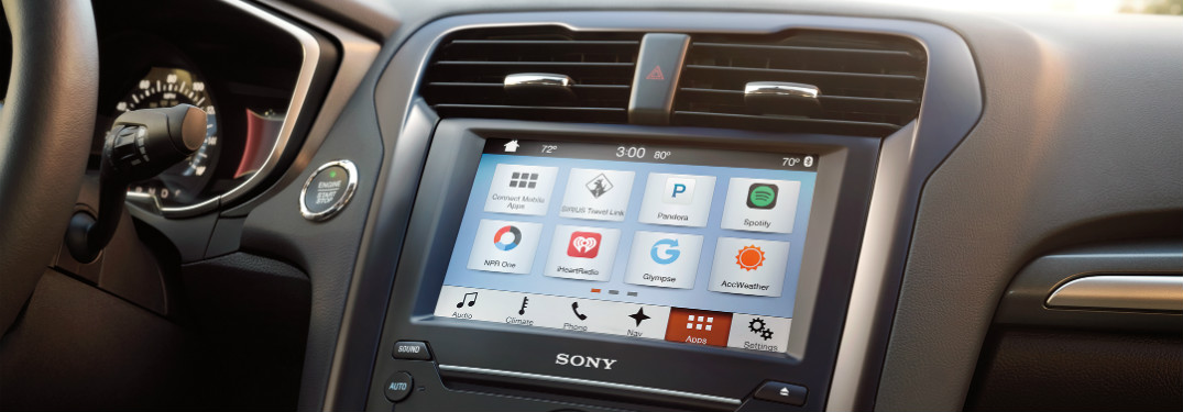 detail of ford infotainment system