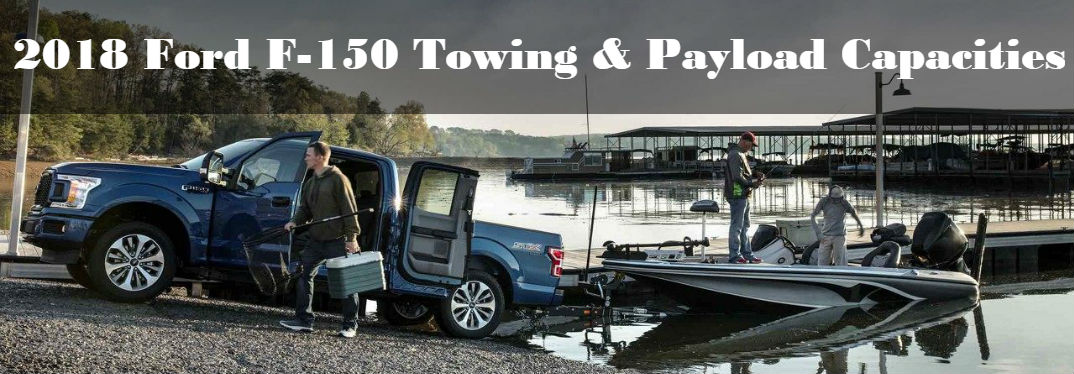 2018 Ford F-150 towing boat into water with people on it for fishing