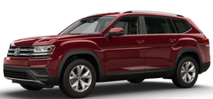 2018 Volkswagen Atlas Fortana Red Metallic