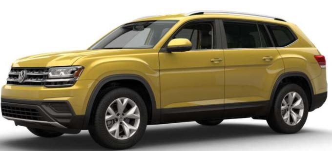 2018 Volkswagen Atlas Kurkuma Yellow Metallic