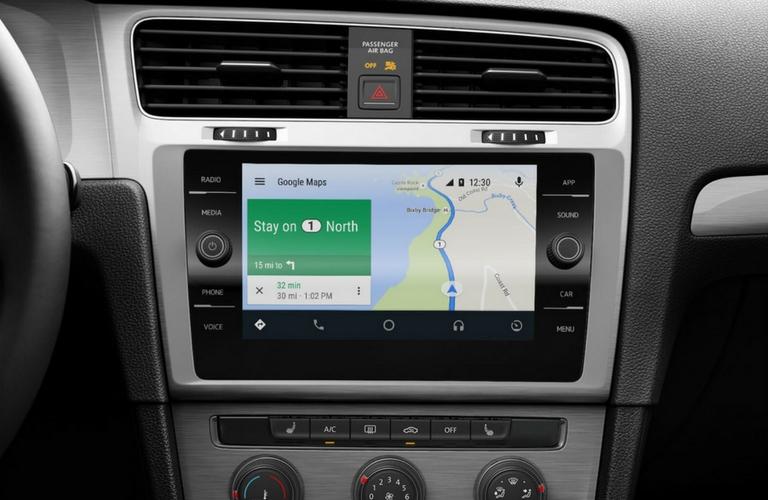 2018 Volkswagen Golf touch screen.