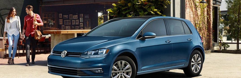 2018 Volkswagen Golf parked outside.