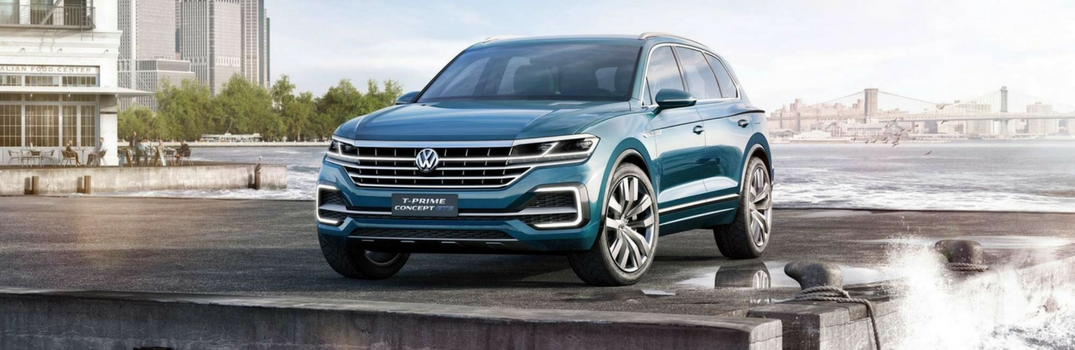 2018 Volkswagen Touareg parked near the water.