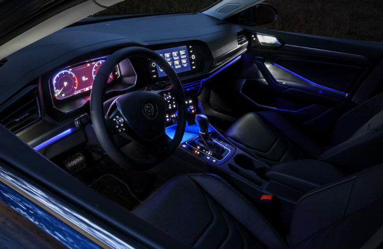 ambient lighting inside the 2019 Volkswagen Jetta