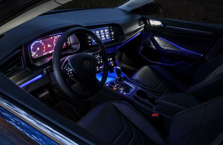 Ambient Lighting inside the 2019 Volkswagen Jetta