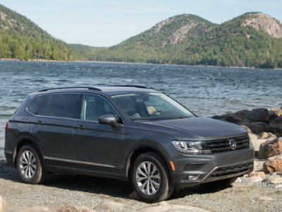 2018 Volkswagen Tiguan parked by the lakeside