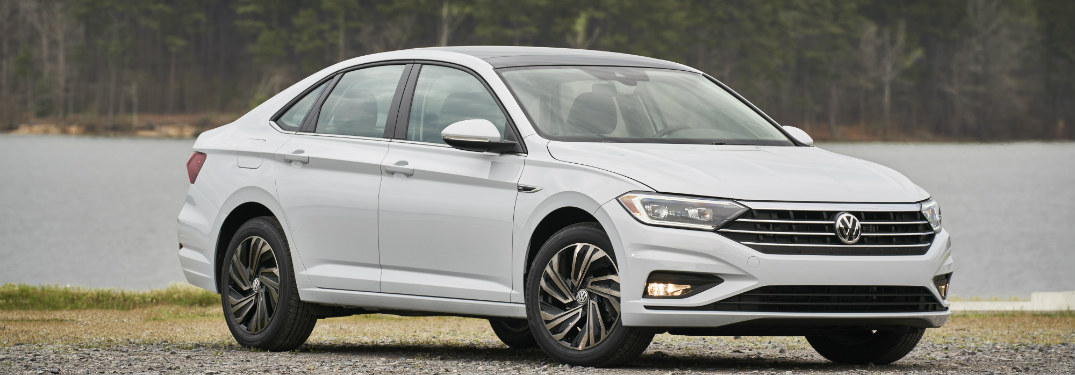 2019 Volkswagen Jetta parked in front of a lake