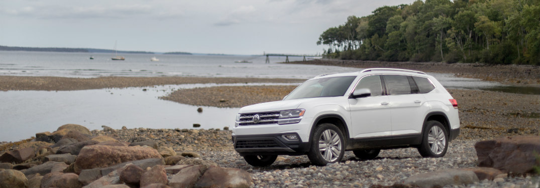 2018 Volkswagen Atlas parked by a lake