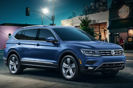 2019 Volkswagen Tiguan parked on the side of a city street