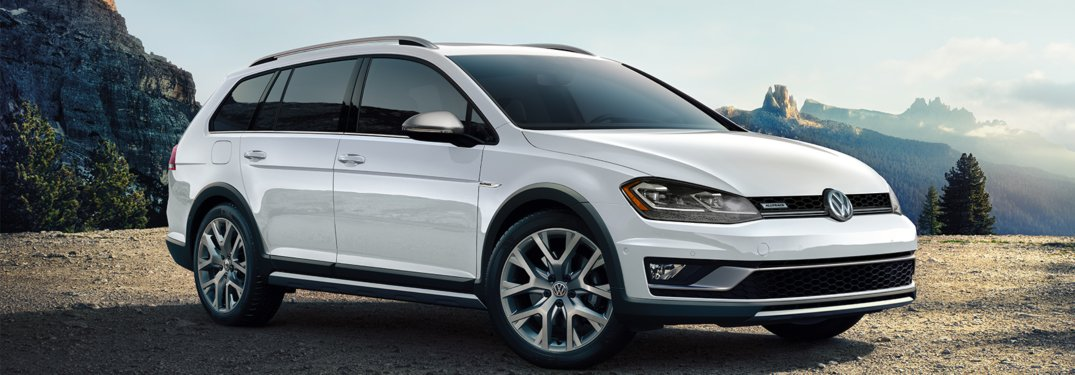 2019 Volkswagen Golf Alltrack parked off-road