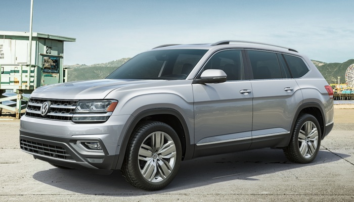 2019 Volkswagen Atlas parked on a beach