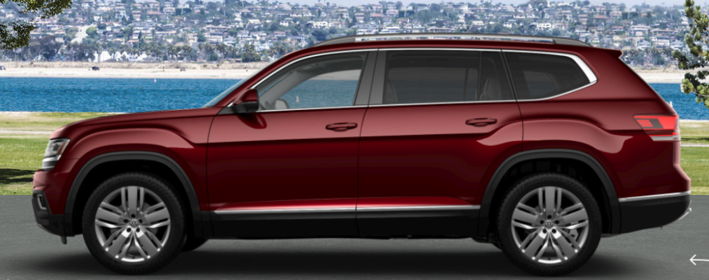 2019 Volkswagen Atlas in Fortana Red