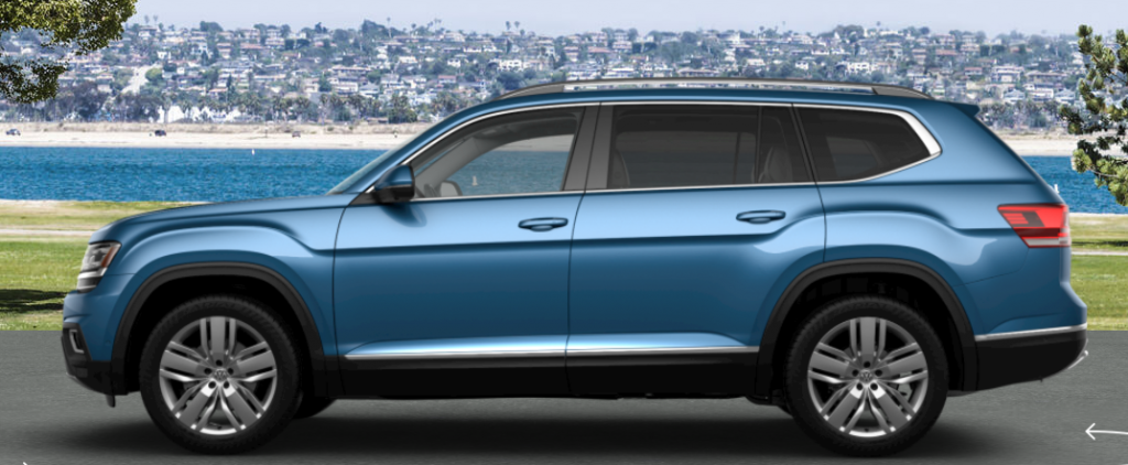 2019 Volkswagen Atlas in Pacific Blue