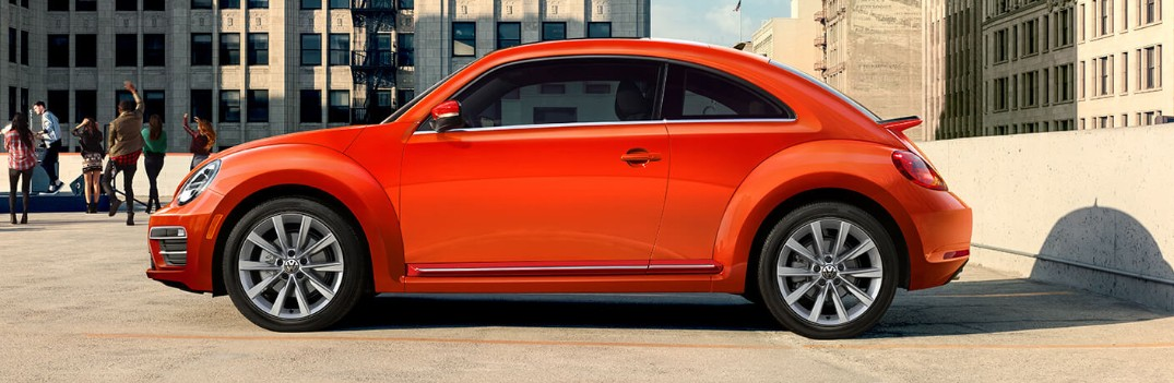 orange 2019 vw beetle