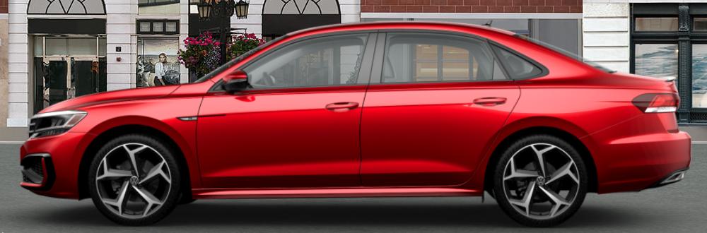 2020 Volkswagen Passat in Aurora Red