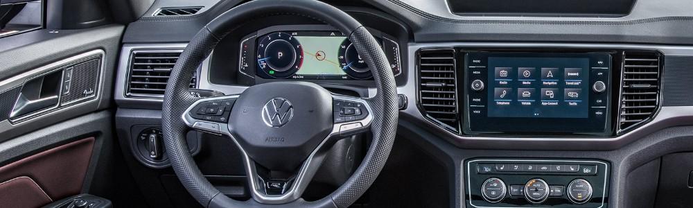 interior view of the 2020 Volkswagen Atlas