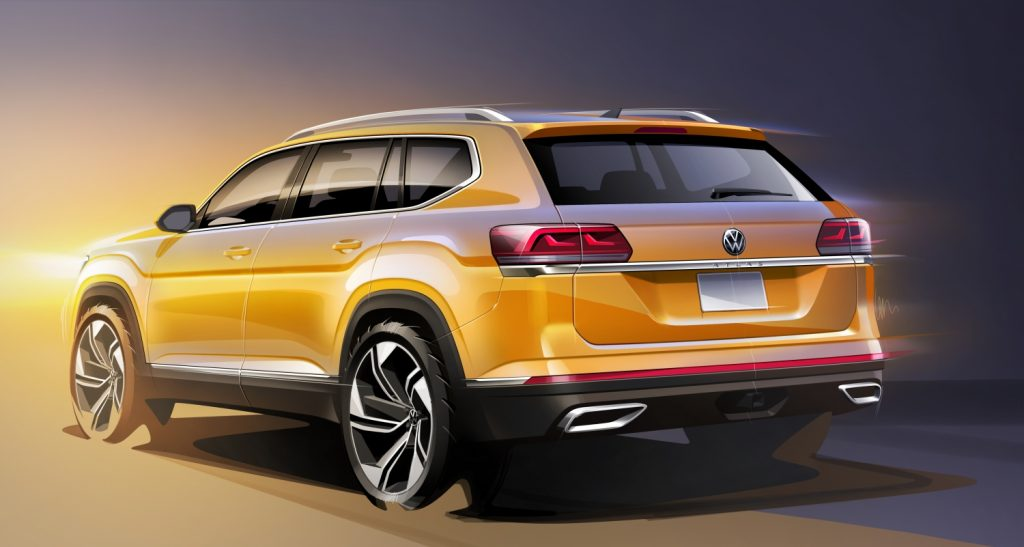 Rear view of the 2021 Volkswagen Atlas