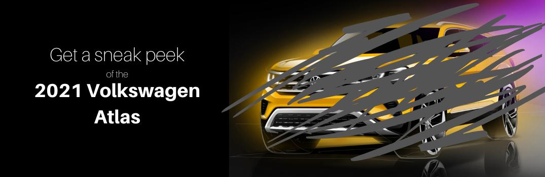 sneak peek of the 2021 Volkswagen Atlas