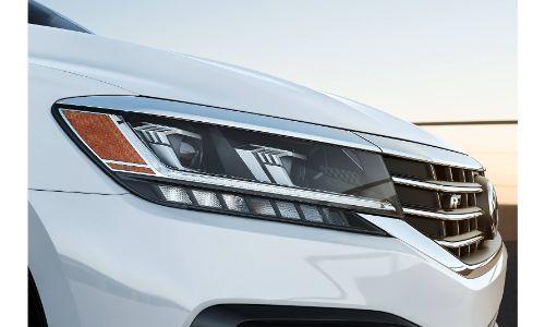 2020 VW Passat exterior close up of passenger side headlight