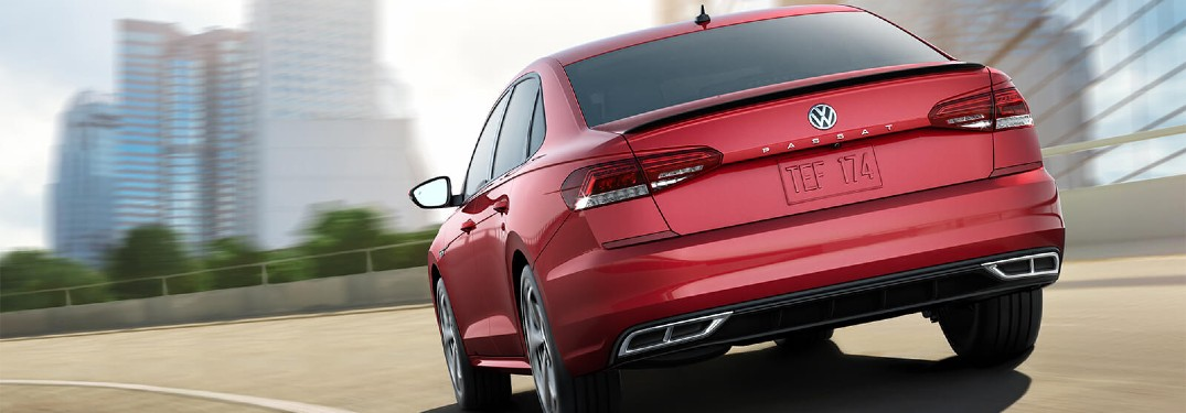2020 Volkswagen Passat Red paint driving away