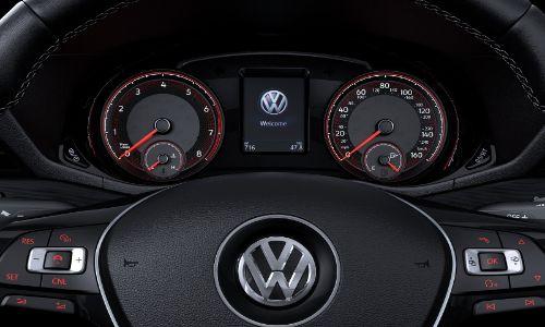 2020 Volkswagen Passat close up of steering wheel and dials