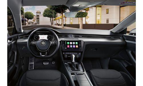 2020 Volkswagen Arteon interior general view of cabin from over headrests