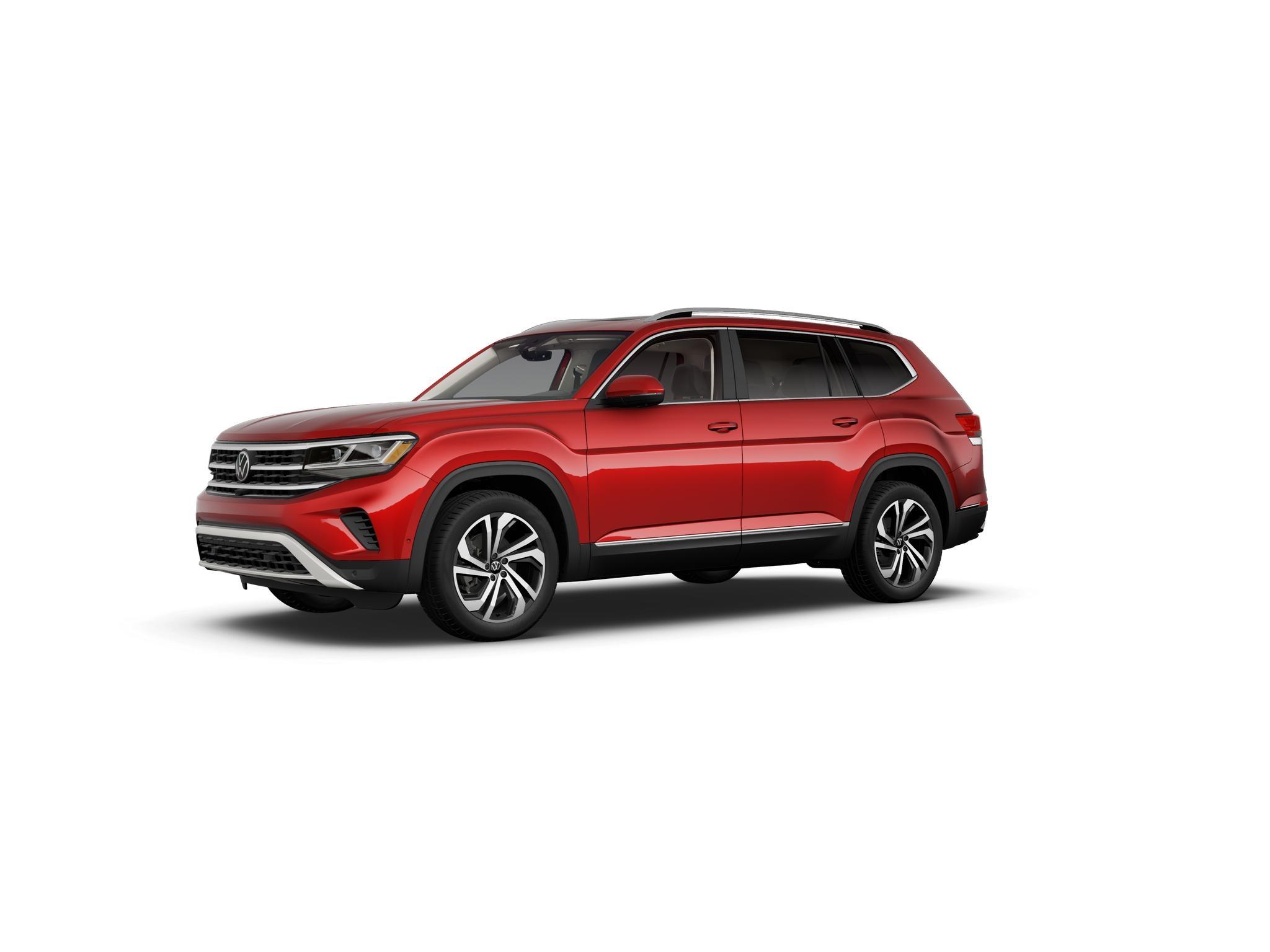 2021 Volkswagen Atlas Aurora Red