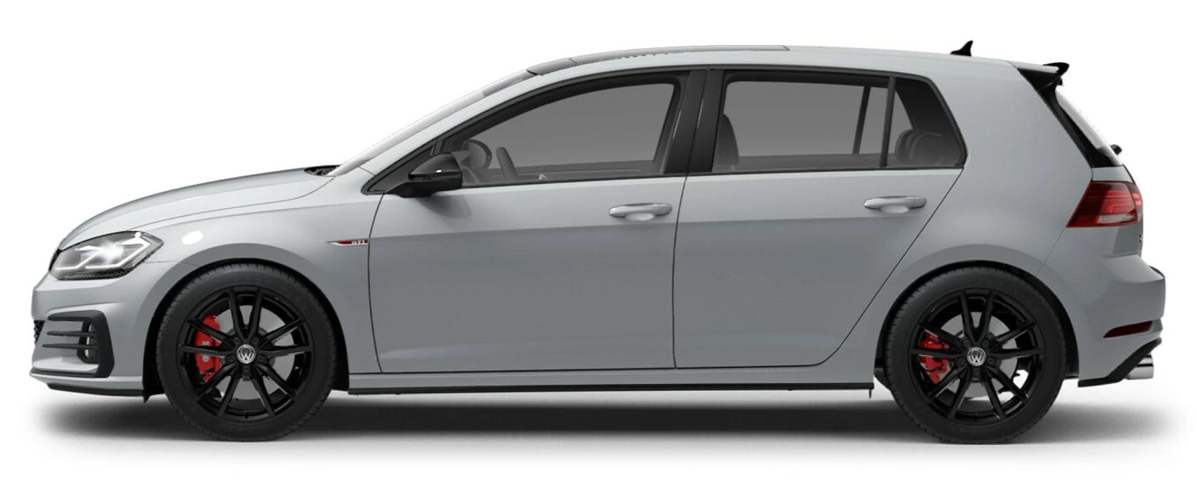 2021 Volkswagen Golf GTI White Silver Metallic