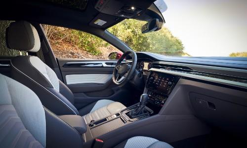 2021 Volkswagen Arteon interior front cabin through passenger window