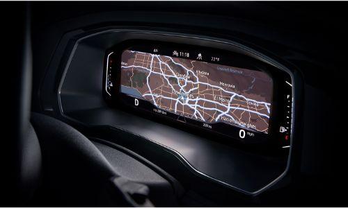 2021 Volkswagen Jetta interior close up of navigation screen