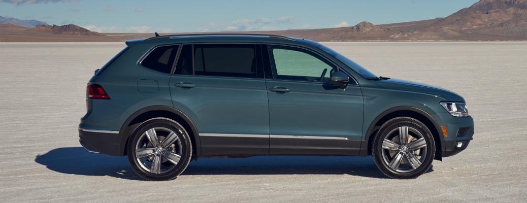 2021 Volkswagen Tiguan side view in the desert