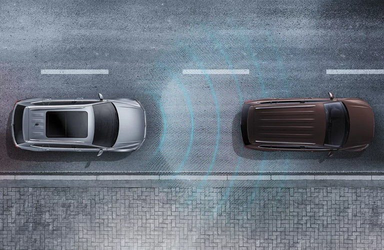 2022 Volkswagen Taos top view using safety features